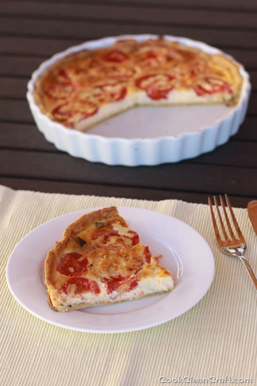 Tomato and basil quiche was a perfect easy dinner to use up a couple ...