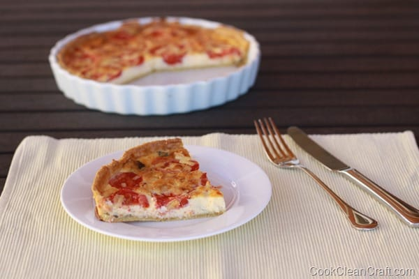 Tomato and Basil Quiche recipe (5)