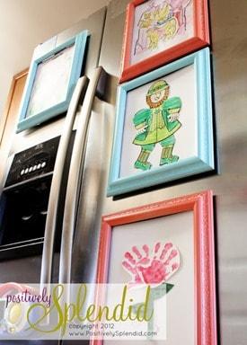 refrigerator art frame tutorial 10
