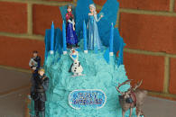Elsa's Ice Palace Birthday Cake