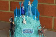Elsa's Ice palace cake