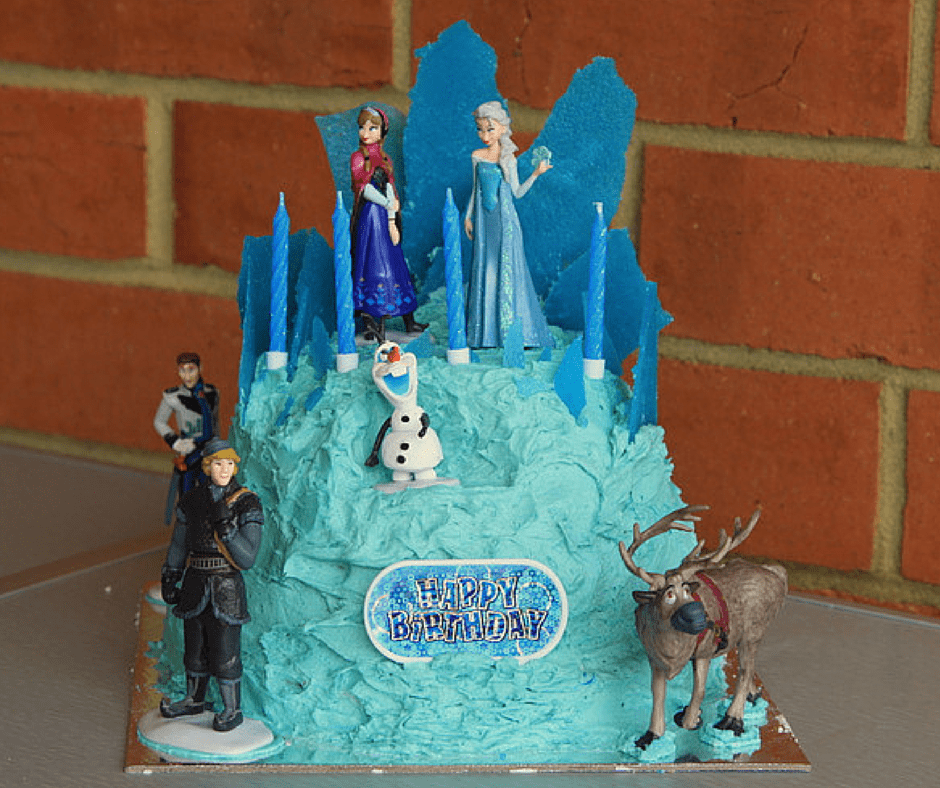 Decorating Ideas > Elsa's Ice Palace Birthday Cake  Cook Clean Craft ~ 140939_Elsa Cake Decoration Ideas