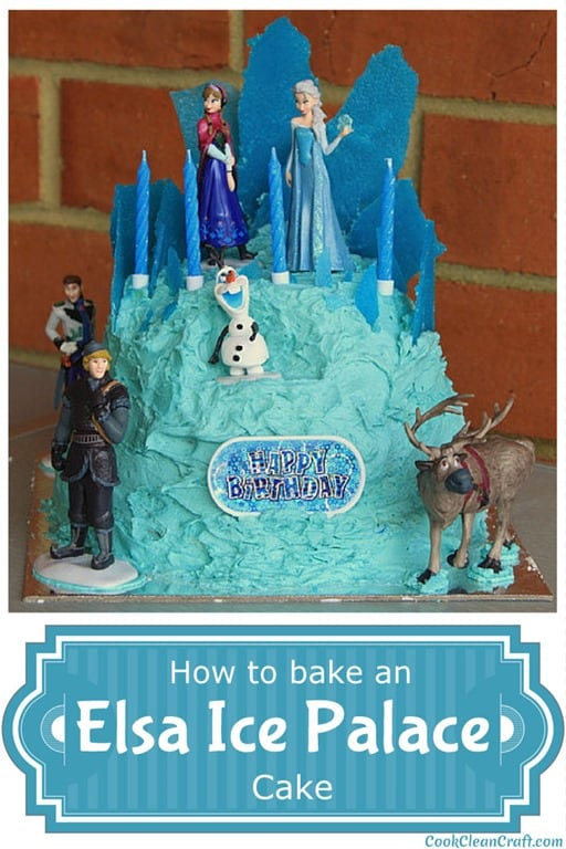 Frozen Elsa Ice palace cake1