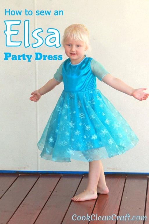 Frozen Elsa Party Dress (3)