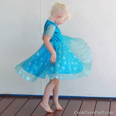 Frozen Elsa Party Dress (4)