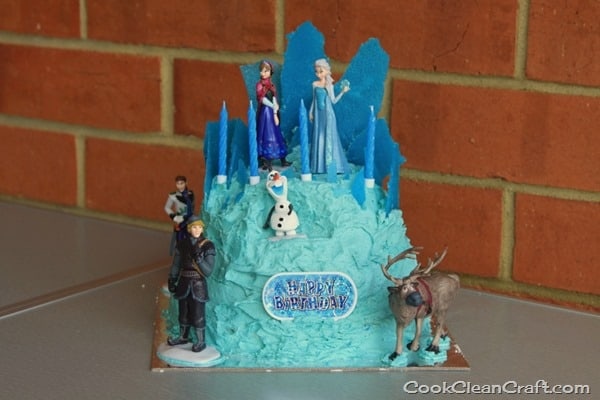 Frozen Ice Palace Cake