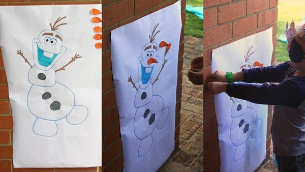 Pin the Carrot Nose on Olaf (2)