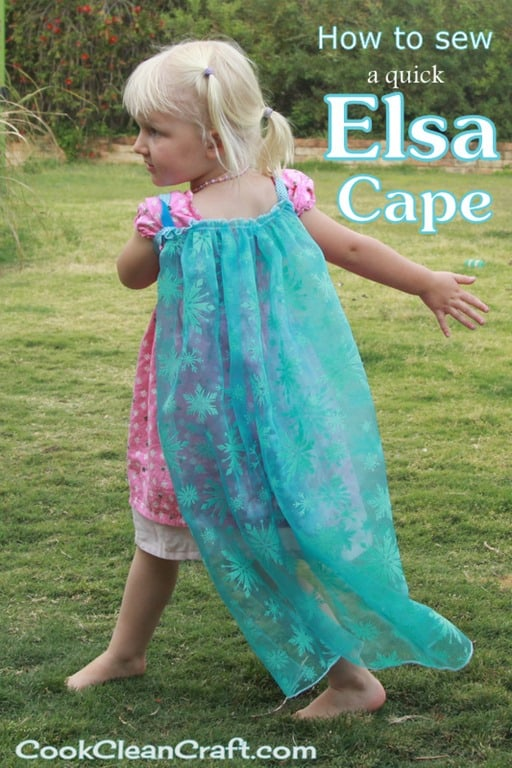 Free Crochet Pattern Elsa Cape : How to sew an Elsa Cape