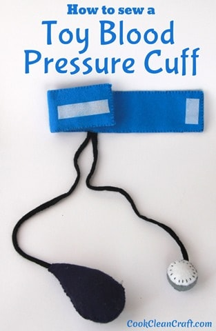 How to sew a toy blood pressure cuff