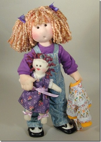 Knitting Pattern Large Rag Doll : 22 Gorgeous Dolls to knit, sew or crochet Cook Clean Craft