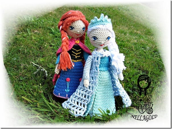 Amigurumi Elsa Ve Anna : 22 Gorgeous Dolls to knit, sew or crochet Cook Clean Craft