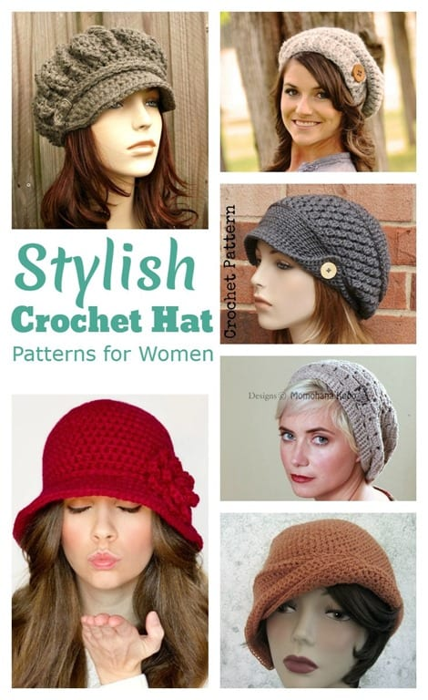 Stylish Crochet Hat Patterns for Women | Cook Clean Craft