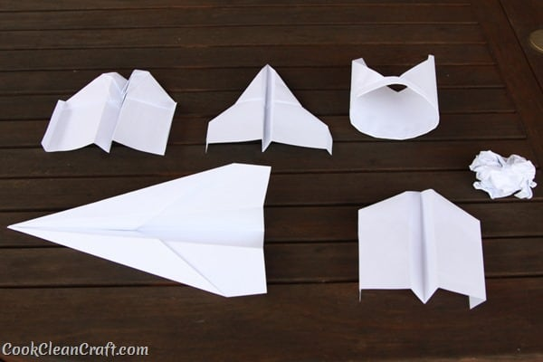 Having fun with paper planes - a fun DIY craft activity to play with the kids after school.
