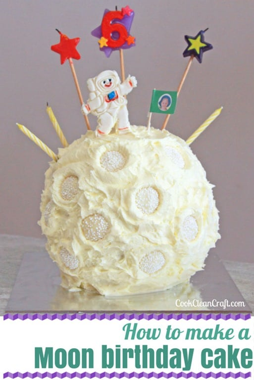 How To Make A 3d Moon Cake With Astronaut Cook Clean Craft