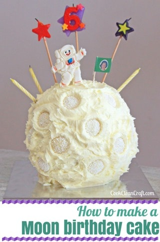 How to make a moon birthday cake