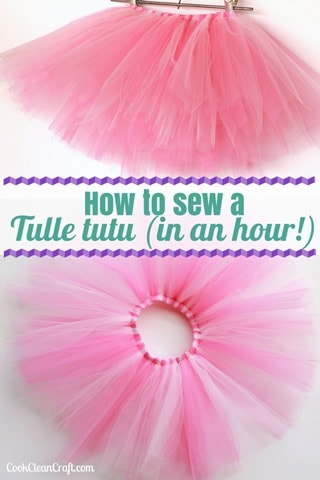 How to sew an tulle tutu in an hour