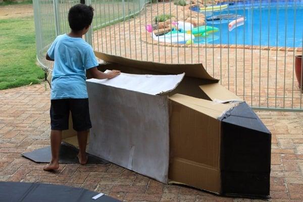 Cardboard space shuttle