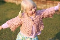 Little Girl's Lacy Crochet Cardigan