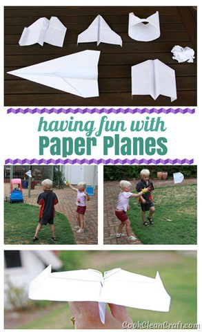 Having fun with paper planes - a fun DIY craft activity to play with the kids after school. Which plane do you think flew furthest?