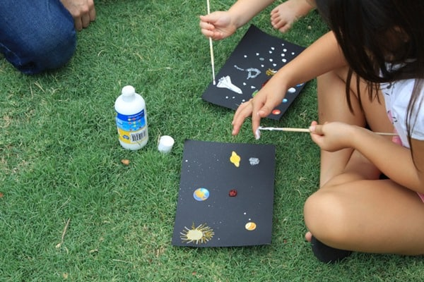 Solar System Craft for a Space-Themed Birthday Party