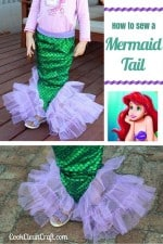 How to sew a mermaid tail {Tutorial}