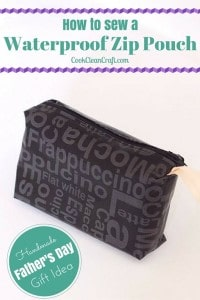 How to sew a zip pouch {Tutorial}