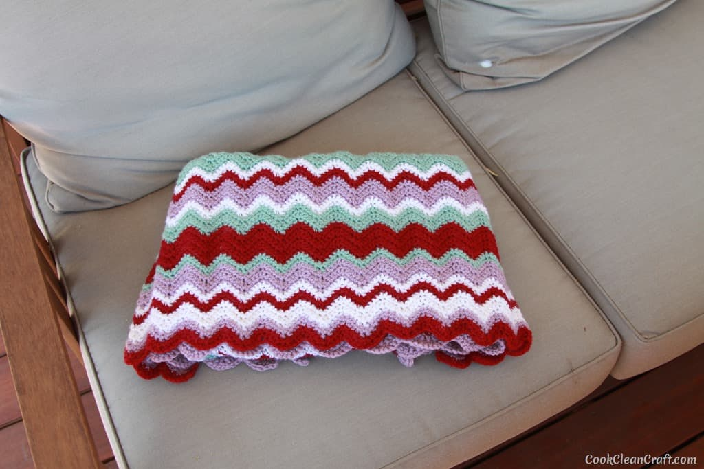 How To Crochet A Funky Ripple Blanket Cook Clean Craft