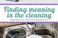 Finding meaning in the cleaning