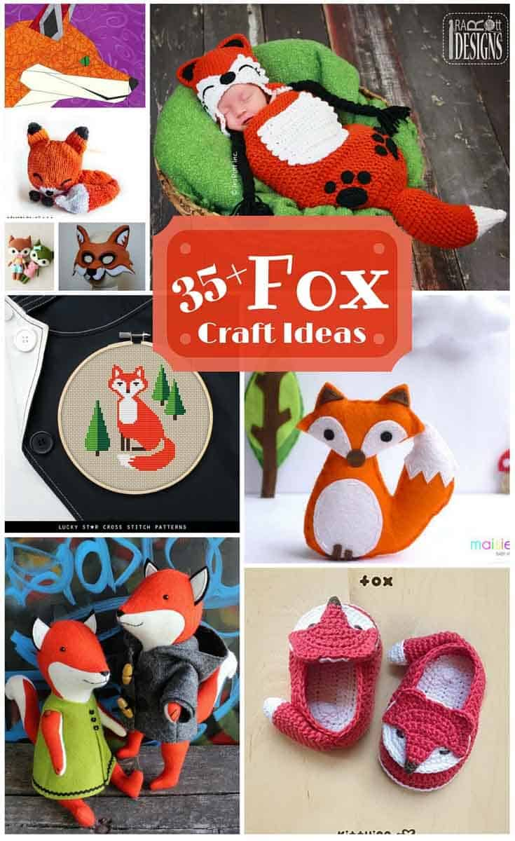 There are so many cute fox patterns and projects out there. Here's  a great collection of DIY fox craft ideas to sew, quilt, knit and crochet.
