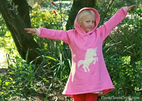 Unicorn Free Motion Applique Hoodie