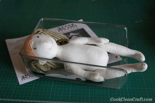 Arthur Cabbage doll in progress