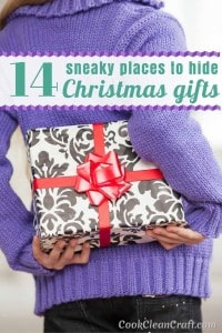 16 Sneaky Spots to hide Christmas Gifts