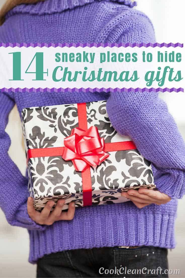 Don't let nosey kids or a prying partner spoil the magic of Christmas finding your gifts. Here are 16 sneaky spots to hide Christmas gifts. Why didn't I think of these?