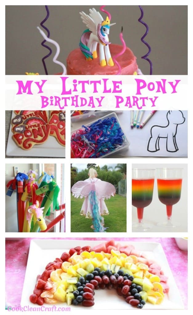 Superb How To Host The Perfect My Little Pony Party Cook Clean Craft Funny Birthday Cards Online Alyptdamsfinfo