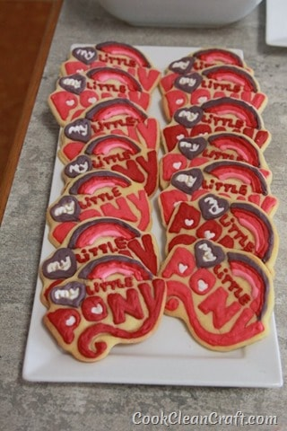 My Little Pony logo sugar cookies
