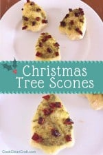 Christmas Tree Scones