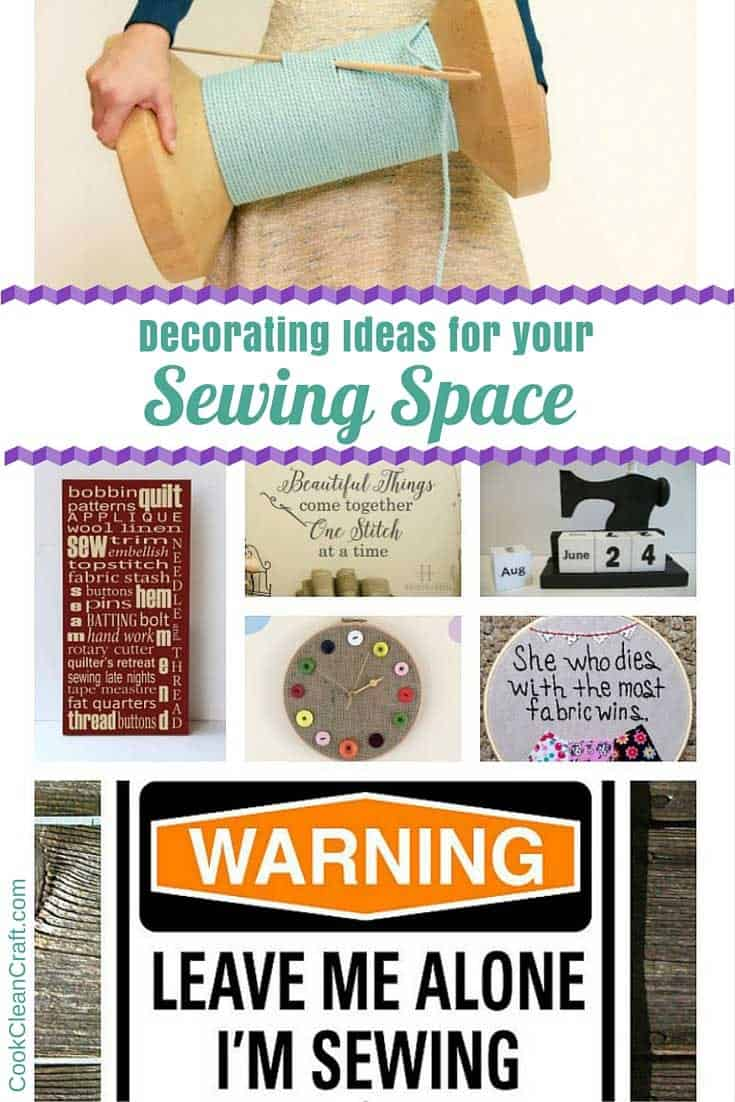 Sewing Room Decorating ideas. My craft space could definitely use a few of these to give it some personality (and they might just make the perfect gift for a crafty type). Love the giant spool stool!